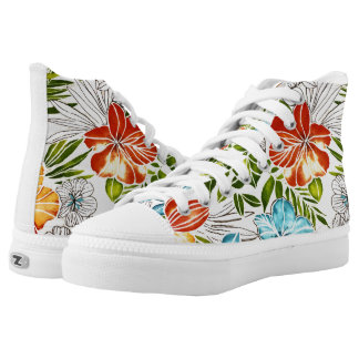 Floral Shoes,US Women 8.5 Printed Shoes