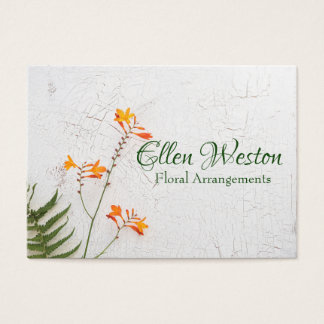 Floral Shop Business Card Can Be Personalized