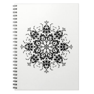 Floral Silhouette Spiral Notebook