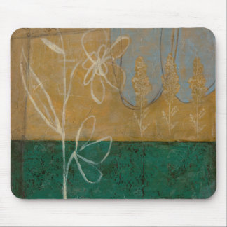 Floral Sketch with Wildflower and Plants Mouse Pad