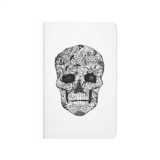 Floral Skull Doodle Journals