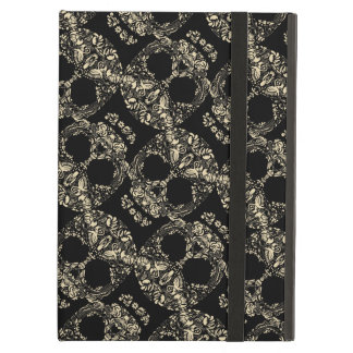 Floral skull pattern cover for iPad air