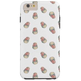 Floral skull pattern tough iPhone 6 plus case