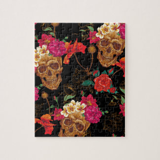 floral Skulls Jigsaw Puzzle