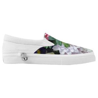 Floral slip on shoes printed shoes