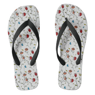 Floral Spice Colorful Flowers Print Pattern Thongs