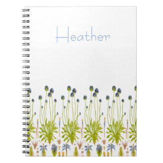 FLORAL Spiral Notebook - Personalize It