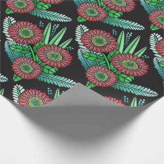Floral Spray Color Design Wrapping Paper