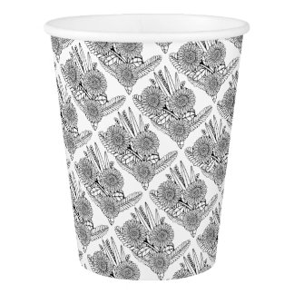 Floral Spray Two Paper Cup
