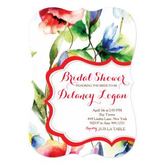 Floral Spring Bridal Shower Invitation