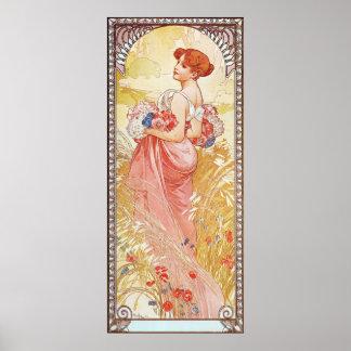 Floral Spring Goddess Poster