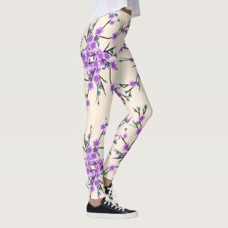 floral spring pattern leggings