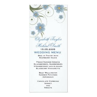 Floral Spring Swirls Elegant  Wedding Menu 10 Cm X 24 Cm Invitation Card