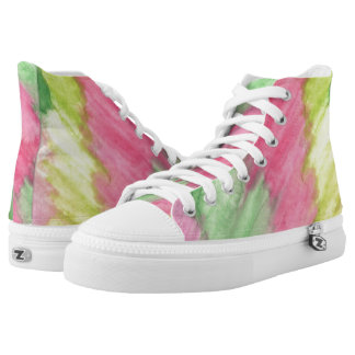 Floral Stained Glass Hi Top Printed Shoes