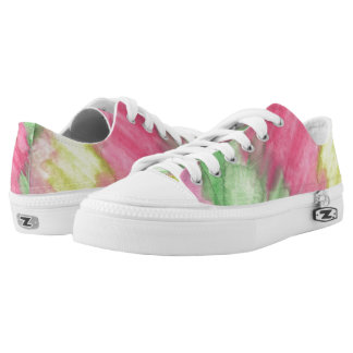 Floral Stained Glass Lo Top Printed Shoes