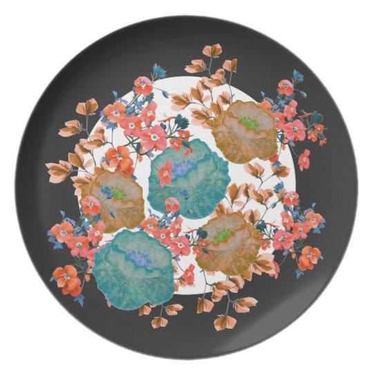 Floral Stamp Art by Zala Farah Plate