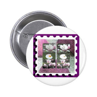 floral stamp pins