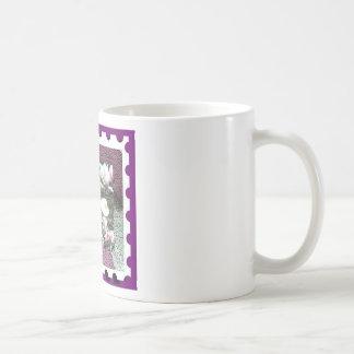 floral stamp mugs