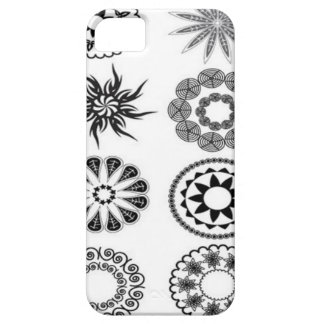 Floral stamps design iPhone 5 cases