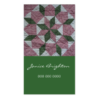 Floral Star Business Card Template