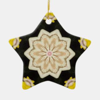Floral Star Kaleidoscope Christmas Ornament