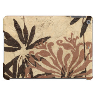 Floral Stencil Design with Tawny Leaves Cover For iPad Air