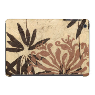 Floral Stencil Design with Tawny Leaves iPad Mini Retina Covers