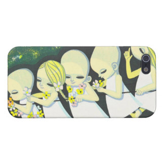 Floral Streetcar Ikeda Shuzo oriental children kid Covers For iPhone 5