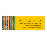 Floral Striped Calling Cards Pack Of Skinny Business Cards