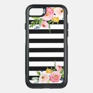 Floral Striped Modern OtterBox iPhone 7 Case