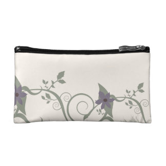 Floral & Stripes Makeup Bag