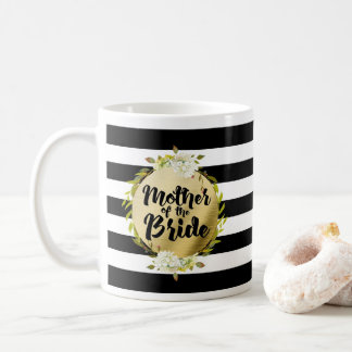 Floral & Stripes Mother of the Bride Coffee Mug