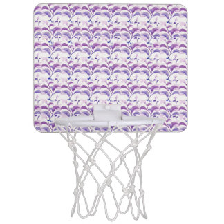Floral Stripes Pattern Mini Basketball Hoop