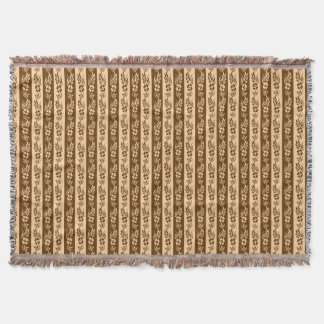 Floral stripes pattern throw blanket