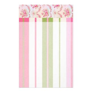 Floral Stripes Stationery