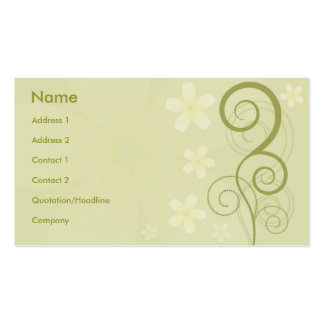 Floral Style Business Card Templates