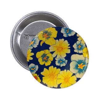 Floral Sugar 6 Cm Round Badge
