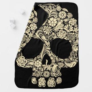 Floral Sugar Skull Baby Blanket