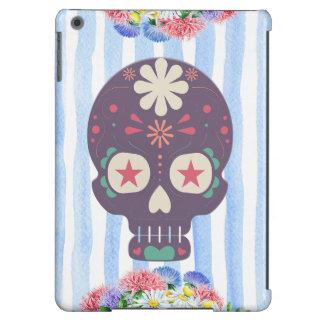 Floral Sugar Skull Case Cover For iPad Air
