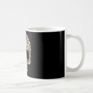 Floral Sugar Skull Coffee Mug
