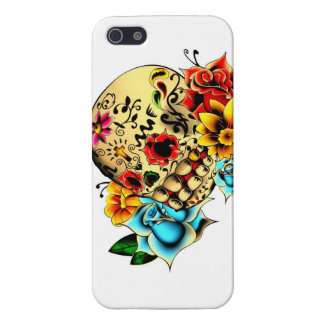 Floral Sugar Skull Cover For iPhone 5/5S
