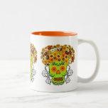 Floral Sugar Skull Mug
