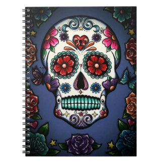Floral Sugar Skull Notebook