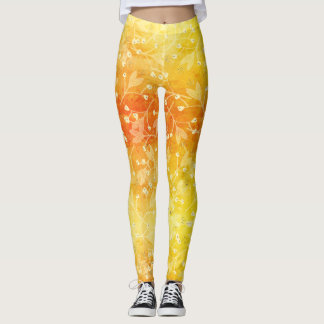Floral Summer Colorful Leggings