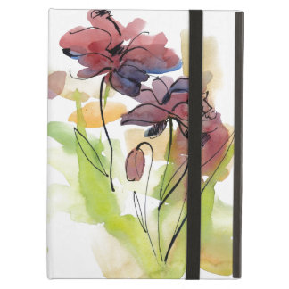 Floral summer design with hand-painted abstract 2 iPad air cover