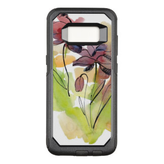 Floral summer design with hand-painted abstract 2 OtterBox commuter samsung galaxy s8 case
