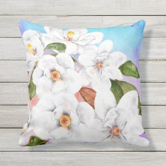 Floral summer Watercolor Outdoor Cushion