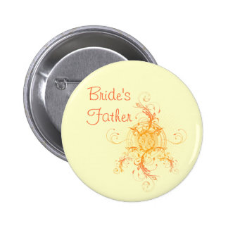 Floral Sun Handfasting Bride's Father Badge 2