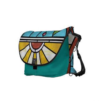 Floral Sunburst Messenger Bag