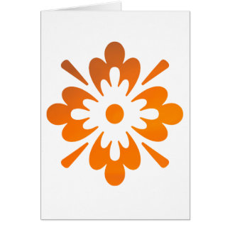 Floral Sunset Orange Sky Abstract Greeting Card